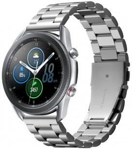 "Sidabrinės spalvos apyrankė Samsung Galaxy Watch 3 45mm laikrodžiui ""Spigen Modern Fit Band"""