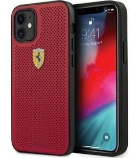 "Raudonas dėklas Apple iPhone 12 Mini telefonui ""FESPEHCP12SRE Ferrari Off Track Perforated Cover"""