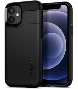 "Juodas dėklas Apple iPhone 12 Mini telefonui ""Spigen Slim Armor CS"""