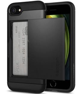 "Juodas dėklas Apple iPhone 7/8/SE 2020 telefonui ""Spigen Slim Armor CS"""