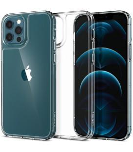 "Skaidrus dėklas Apple iPhone 12 Pro Max telefonui ""Spigen Quartz Hybrid"""