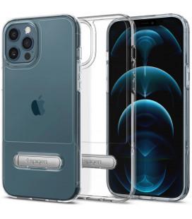 "Skaidrus dėklas Apple iPhone 12 Pro Max telefonui ""Spigen Slim Armor Essential S"""