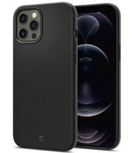 "Juodas dėklas Apple iPhone 12 Pro Max telefonui ""Spigen Cyrill Silicone"""