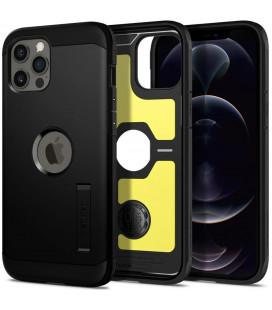 "Juodas dėklas Apple iPhone 12 Pro Max telefonui ""Spigen Tough Armor"""