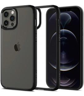 "Juodas dėklas Apple iPhone 12 Pro Max telefonui ""Spigen Ultra Hybrid"""