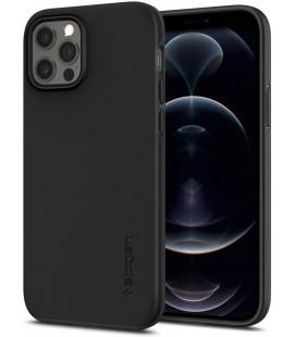 "Juodas dėklas Apple iPhone 12/12 Pro telefonui ""Spigen Thin Fit"""