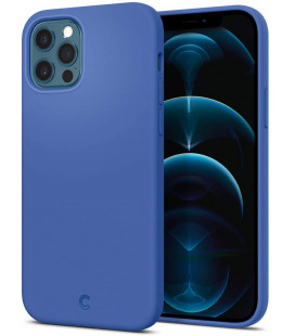 "Mėlynas dėklas Apple iPhone 12/12 Pro telefonui ""Spigen Cyrill Silicone"""