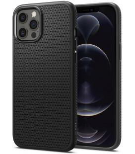 "Juodas dėklas Apple iPhone 12/12 Pro telefonui ""Spigen Liquid Air"""