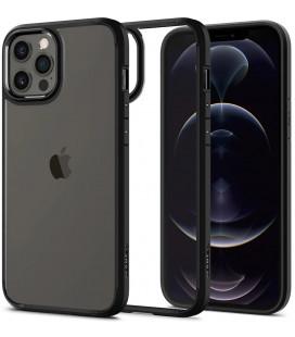 "Juodas dėklas Apple iPhone 12/12 Pro telefonui ""Spigen Ultra Hybrid"""
