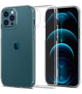 """Skaidrus dėklas Apple iPhone 12/12 Pro telefonui """"Spigen Ultra Hybrid"""""""