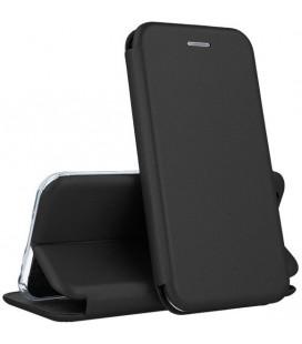 """Juodas atverčiamas dėklas Samsung Galaxy A41 telefonui """"Book Elegance"""""""
