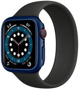 "Mėlynas dėklas Apple Watch 4/5/6/SE (44mm) laikrodžiui ""Spigen Thin Fit"""