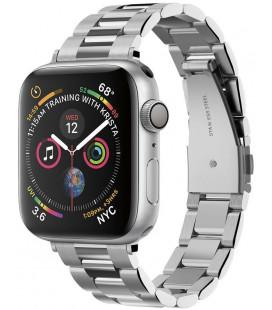 "Sidabrinės spalvos apyrankė Apple Watch 2/3/4/5/6/SE (38/40mm) laikrodžiui ""Spigen Modern Fit Band"""