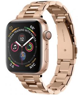 """Rausvai auksinės spalvos apyrankė Apple Watch 2/3/4/5/6/SE (38/40mm) laikrodžiui """"Spigen Modern Fit Band"""""""