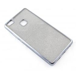 """Juodas silikoninis blizgantis dėklas Huawei P9 Lite telefonui """"Glitter Case Elektro"""""""