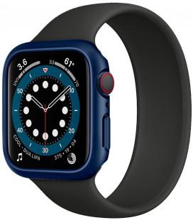 "Mėlynas dėklas Apple Watch 4/5/6/SE (40mm) laikrodžiui ""Spigen Thin Fit"""