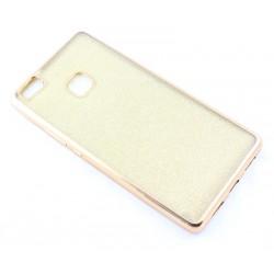 """Auksinės spalvos silikoninis blizgantis dėklas Huawei P9 Lite telefonui """"Glitter Case Elektro"""""""