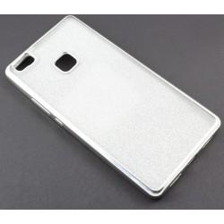 """Sidabrinės spalvos silikoninis blizgantis dėklas Huawei P9 Lite telefonui """"Glitter Case Elektro"""""""