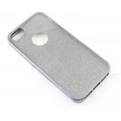 "Juodas silikoninis blizgantis dėklas Apple iPhone 5/5s/SE telefonui ""Glitter Case Elektro"""