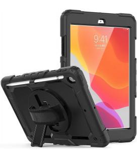 """Juodas dėklas Apple iPad 10.2 2019 / 2020 / 2021 planšetei """"Tech-Protect Solid360"""""""