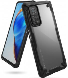 "Juodas dėklas Xiaomi Mi 10T/10T Pro telefonui ""Ringke Fusion X"""
