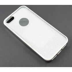 """Sidabrinės spalvos silikoninis blizgantis dėklas Apple iPhone 5/5s/SE telefonui """"Glitter Case Elektro"""""""
