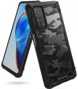 """Juodas (Camo) dėklas Xiaomi Mi 10T/10T Pro telefonui """"Ringke Fusion X"""""""