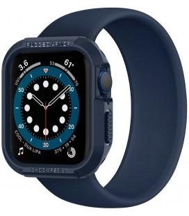 """Mėlynas dėklas Apple Watch 4 / 5 / 6 / 7 / SE (44 / 45 mm) laikrodžiui """"Spigen Rugged Armor"""""""