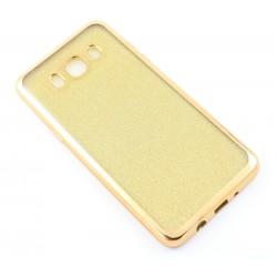 """Auksinės spalvos silikoninis blizgantis dėklas Samsung Galaxy J5 2016 J510F telefonui """"Glitter Case Elektro"""""""
