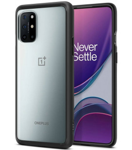 "Juodas dėklas Oneplus 8T telefonui ""Spigen Ultra Hybrid"""