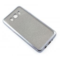 """Juodas silikoninis blizgantis dėklas Samsung Galaxy J5 2016 J510F telefonui """"Glitter Case Elektro"""""""