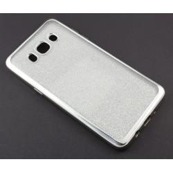 """Sidabrinės spalvos silikoninis blizgantis dėklas Samsung Galaxy J5 2016 J510F telefonui """"Glitter Case Elektro"""""""