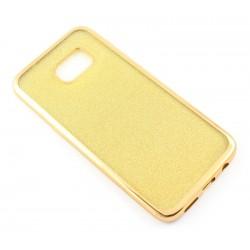 """Auksinės spalvos silikoninis blizgantis dėklas Samsung Galaxy S7 Edge G935F telefonui """"Glitter Case Elektro"""""""