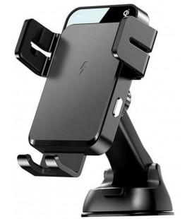 """Juodas automobilinis telefono laikiklis su belaidžio krovimo funkcija """"Joyroom JR-ZS219"""""""