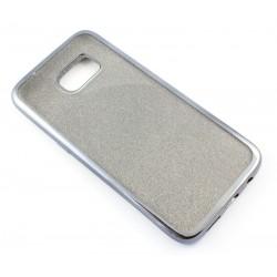"Juodas silikoninis blizgantis dėklas Samsung Galaxy S7 Edge G935F telefonui ""Glitter Case Elektro"""