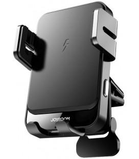 """Juodas automobilinis telefono laikiklis su belaidžio krovimo funkcija į groteles """"Joyroom JR-ZS219"""""""