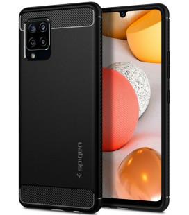 "Juodas dėklas Samsung Galaxy A42 5G telefonui ""Spigen Rugged Armor"""