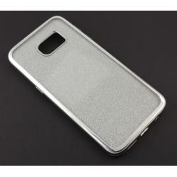 """Sidabrinės spalvos silikoninis blizgantis dėklas Samsung Galaxy S7 Edge G935F telefonui """"Glitter Case Elektro"""""""