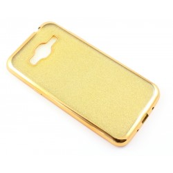 """Auksinės spalvos silikoninis blizgantis dėklas Samsung Galaxy J3 2016 J320F telefonui """"Glitter Case Elektro"""""""