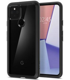 "Juodas dėklas Google Pixel 5 telefonui ""Spigen Ultra Hybrid"""