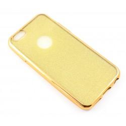 """Auksinės spalvos silikoninis blizgantis dėklas Apple iPhone 6/6s telefonui """"Glitter Case Elektro"""""""