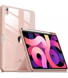 """Rožinis atverčiamas dėklas Apple iPad Air 4 2020 planšetei """"Infiland Crystal Case"""""""