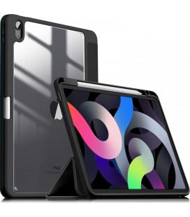 """Juodas atverčiamas dėklas Apple iPad Air 4 2020 planšetei """"Infiland Crystal Case"""""""