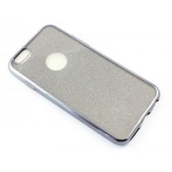 "Juodas silikoninis blizgantis dėklas Apple iPhone 6/6s telefonui ""Glitter Case Elektro"""