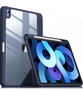 """Mėlynas atverčiamas dėklas Apple iPad Air 4 2020 planšetei """"Infiland Crystal Case"""""""