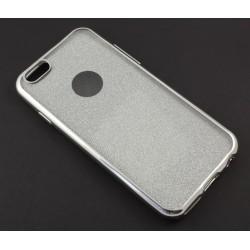 """Sidabrinės spalvos silikoninis blizgantis dėklas Apple iPhone 6/6s telefonui """"Glitter Case Elektro"""""""