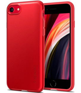 "Raudonas dėklas Apple iPhone 7/8/SE 2020 telefonui ""Spigen Thin Fit Pro"""