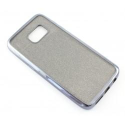 """Juodas silikoninis blizgantis dėklas Samsung Galaxy S7 G930F telefonui """"Glitter Case Elektro"""""""