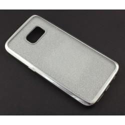 """Sidabrinės spalvos silikoninis blizgantis dėklas Samsung Galaxy S7 G930F telefonui """"Glitter Case Elektro"""""""