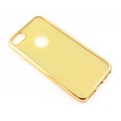 """Auksinės spalvos silikoninis blizgantis dėklas Apple iPhone 7 telefonui """"Glitter Case Elektro"""""""